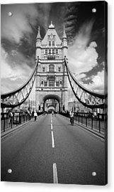Tower Bridge In London Acrylic Print by Chevy Fleet