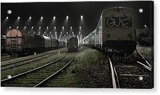 Trainsets Acrylic Print by Leif L?ndal