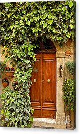 Tuscan Door Acrylic Print by Brian Jannsen