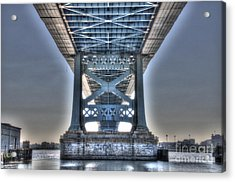 Under The Bridge - Ben Franklin, Philadelphia Acrylic Print
