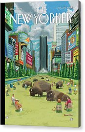 New Yorker August 27th, 2012 Acrylic Print
