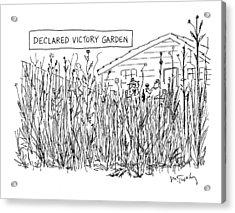 Declared Victory Garden Acrylic Print