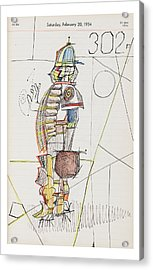 New Yorker October 24th, 2005 Acrylic Print by Saul Steinberg