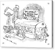 New Yorker November 24th, 2008 Acrylic Print by Sidney Harris