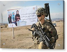 Us Troops Patrol Village In Afghanistan's Logar Province Acrylic Print by Scott Olson