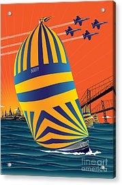 Usna Sunset Sail Acrylic Print