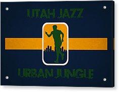 Utah Jazz Acrylic Print by Joe Hamilton