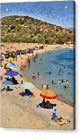 Painting Of Vai Beach Acrylic Print