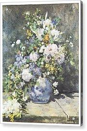 Vase Of Flowers Acrylic Print by Pierre-Auguste Renoir