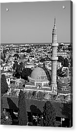 View Of The Old City Of Rhodes Acrylic Print