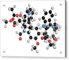 Vincrinstine Cancer Drug Molecule Acrylic Print