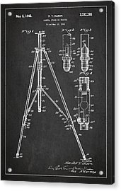 Vintage Tripod Patent Drawing From 1941 Acrylic Print