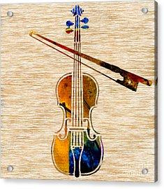 Violin And Bow Acrylic Print by Marvin Blaine
