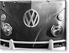 Volkswagen Vw Bus Front Emblem Acrylic Print