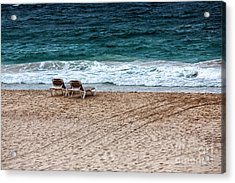 Waiting For Two Acrylic Print by John Rizzuto