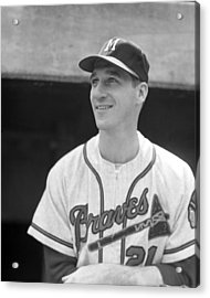 Warren Spahn Acrylic Print by Retro Images Archive