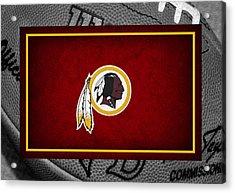 Washington Redskins Acrylic Print by Joe Hamilton