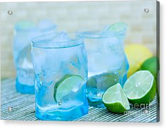 Water In Blue Acrylic Print by Iris Richardson
