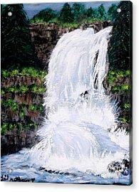 Waterfalls At Rock Canyon Acrylic Print