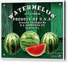 Watermelon Farm Acrylic Print