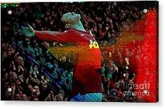 Wayne Rooney Acrylic Print by Marvin Blaine