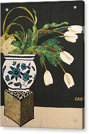White Tulips Acrylic Print by Lynda K Boardman