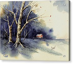 Winter Tree Acrylic Print by Sam Sidders