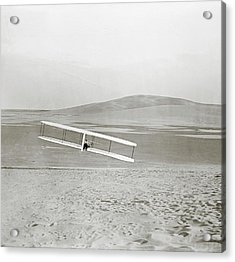 Wright Brothers Kitty Hawk Glider Acrylic Print by Library Of Congress