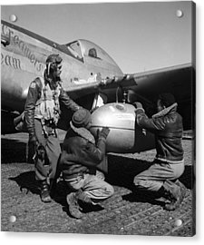 Wwii: Tuskegee Airmen, 1945 Acrylic Print by Granger