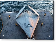 X-47b Unmanned Combat Air Vehicle Acrylic Print by Us Air Force