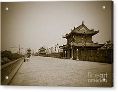 Xi'an City Wall China Acrylic Print by Fototrav Print