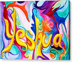 Acrylic Print featuring the painting Yeshua by Nancy Cupp