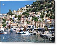 Yialos Harbour Symi Acrylic Print