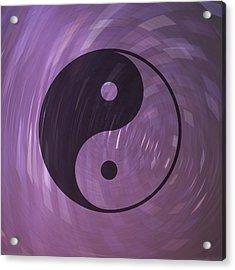 Yin And Yang Acrylic Print by Daryl Macintyre
