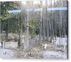 Acrylic Print featuring the photograph 300yr Cemetery by Brian Williamson