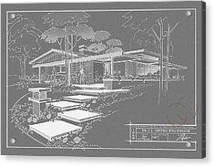 301 Cypress Drive - Charcoal Acrylic Print