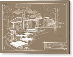 301 Cypress Drive - Sepia Acrylic Print
