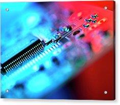 Circuit Board Acrylic Print by Tek Image