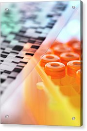 Dna Research Acrylic Print by Tek Image