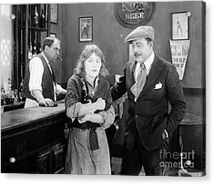 Silent Film Still: Drinking Acrylic Print by Granger