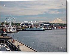 Wa, Seattle, The Seattle Great Wheel Acrylic Print by Jamie and Judy Wild
