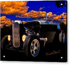 32 Ford Roadster In Silver An Black Acrylic Print
