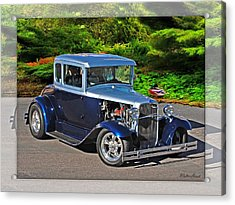 32 Ford Acrylic Print by Walter Herrit