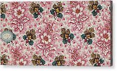French Fabrics First Half Of The Nineteenth Century 1800 Acrylic Print by Litz Collection