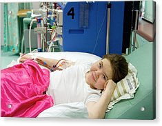 Paediatric Dialysis Unit Acrylic Print by Life In View/science Photo Library