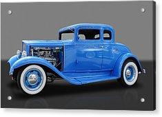 1932 Pontiac Sport Coupe 5 Window Acrylic Print by Frank J Benz