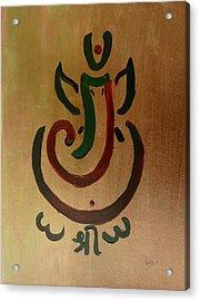 33 Rakta Ganesh Acrylic Print by Kruti Shah
