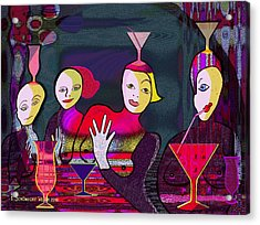 349 - Crazy Cocktail Bar   Acrylic Print by Irmgard Schoendorf Welch