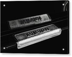 1935 Auburn Supercharged Step Plate Reflection Acrylic Print