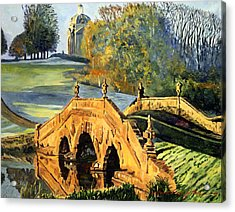 355 Ancient English Bridge Acrylic Print by David Lloyd Glover